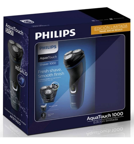 Pack Afeitadora Philips Aquatouch 1000 S1121 + Travel Bag.
