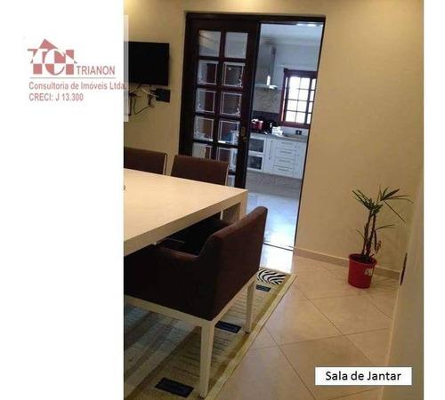 Sobrado 300 M2 4 Dorm 5 Vagas 1 Suite Closet  Semi Mobiliado - So0270