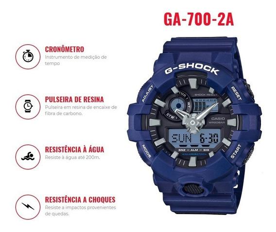 Relógio Casio G-shock Ga-700-2adr Original Pronta Entrega