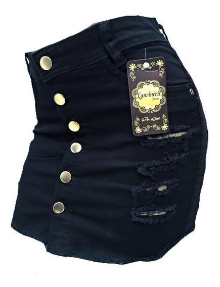 Mini Saia Jeans 36 Ao 54 Plus Size