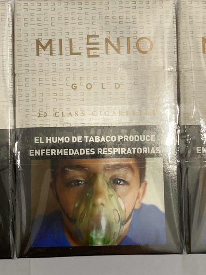 Cigarrillos Milenio Gold Pack Por 10 Atados