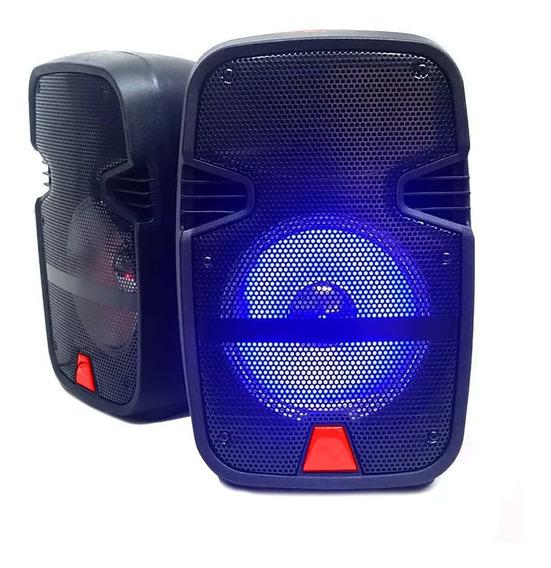 Kit Baflle Bocinas Bluetooth 8 Pulg 2000w Portatil Sonido Estereo /e
