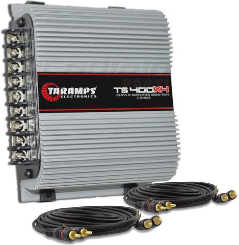 Imagem 1 de 5 de Modulo Taramps Ts 400x4 T400 Wrms Digital + Brinde + Frete