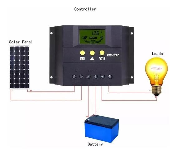 Controlador Solar 12v 24v Cm6024z 60a Pronta Entrega