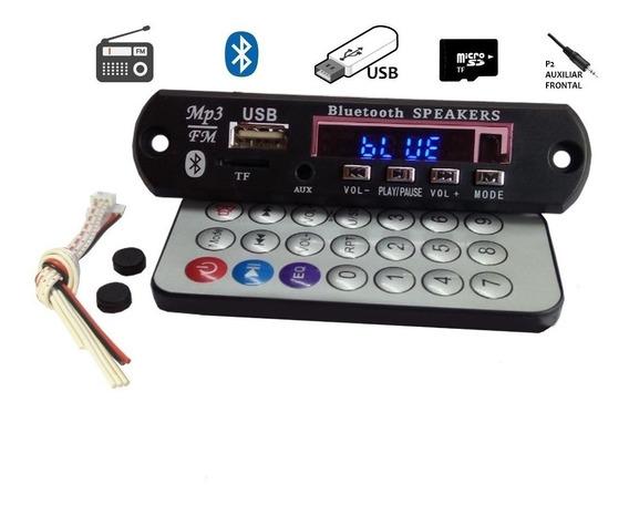 Placa Mp3 Player P Amplificador Usb Sd Bluetooth Fm Tr Pasta
