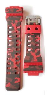 Malla Correa Para Reloj Casio G Shock Ga-100cm-4a Camuflaje