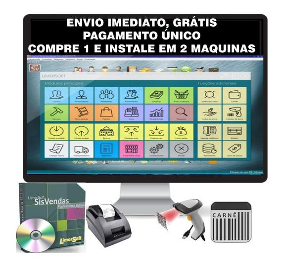 Sistema Controle Múltiplos Estoque, Caixa, Pdv, Vendas, Erp