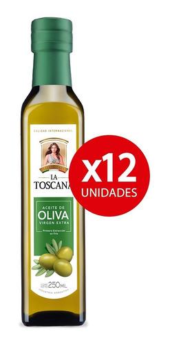 Aceite De Oliva Virgen Extra La Toscana 250 Ml. Pack X 12