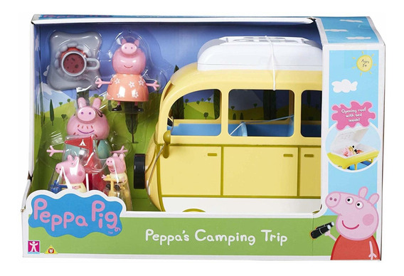 Peppa Pig Campervan Dia De Camping + Figuras Y Accesorios