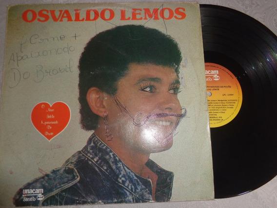 Lp Osvaldo Lemos- Ídolo Apaixonado Do Povão, Brega
