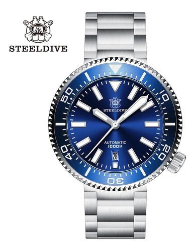 Steeldive Ocean Mergulho 1000m 2 Pulseiras Automatico Nh35