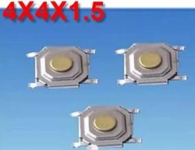 10x - Botão Tact 4 Pino Micro Switch Smd 4x4x1,5mm