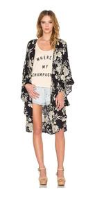 Kimono Cardigan Feminino Roupas Feminina Social Florido Midi