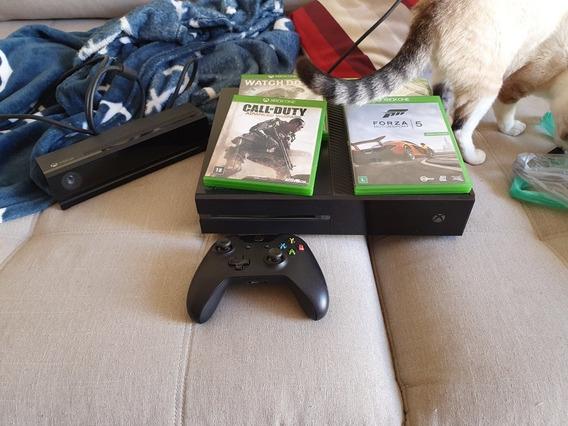Xbox One Fat - 500gb - Completo + Jogos À Vista 1510 Reais