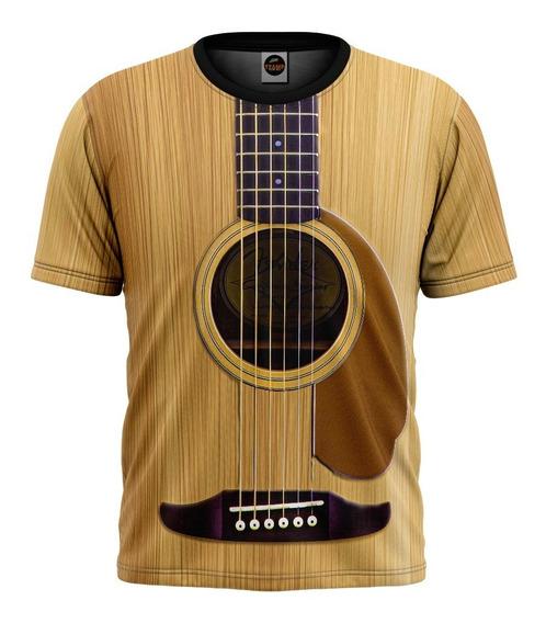 Camiseta Violão Viola Guitarra Musica Sertanejo Mod 0022