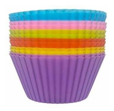 Molde Silicona Cup Cakes Madelenas Colores X 6 Mix Ponque