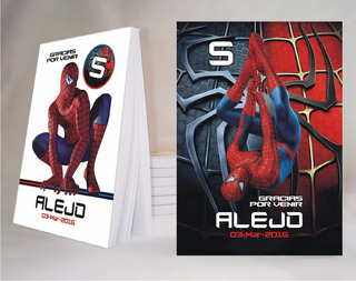 Spiderman Anotador X30 De 10x14 + 30 Bolsitas Personalizado!