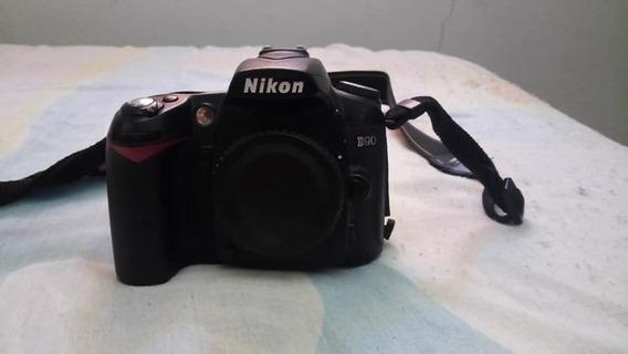 Corpo De Nikon D90 - Sem Bateria E Carregador, Sem Devoluçao