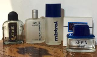 Lote De Perfumes Mistral Stone Kevin Axe. Frascos Vacíos