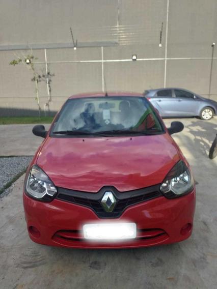 Renault Clio Vermelho 1.0 16 Válvulas 3p Manutenção Em Dia