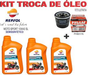 Kit Troca Oleo E Filtro Cbr 600rr Repsol 10w40 Sl