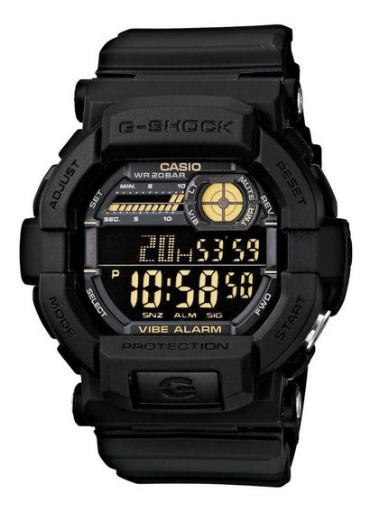 Relogio Casio G-shock Forças De Elite Black Gd-350-1b