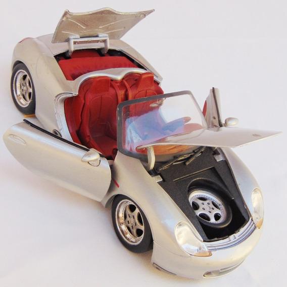 Carrinho Carro Porsche Boxster Maisto Prata Escala 1/18