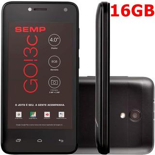 Smartphone Celular Semp Go! 3c Dual Sim Preto 16 Gb