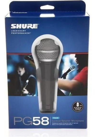 Microfone Shure Pg58 Para Voz Cardioide Profissional C/ Capa