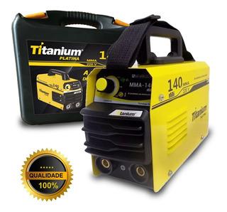 Maquina Solda Mini Inversora Titanium Platina Mma 140 220v