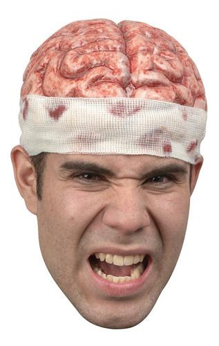 Imagen 1 de 1 de Casco De Látex Brain Cap Cerebro Zombie Halloween