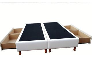 Box Sommier 2 Plazas Y 1/2 1,60x2,00 C/ 4 Cajones