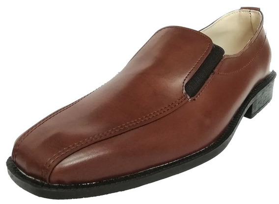Zapatos Hombre De Vestir S/ Cuero Elastico O Cordon