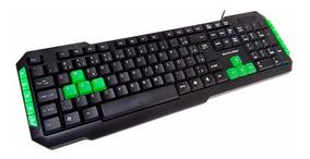 Teclado Gamer Multimídia C/ Teclas Verdes Multilaser - Tc201