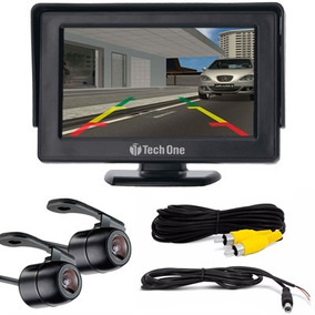 Kit Camera De Re E Camera Frontal + Monitor Lcd 4,3 Techone