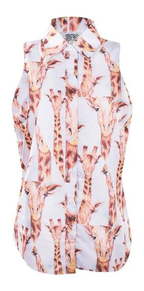 Camisa Girafa Sem Manga Feminina Sck