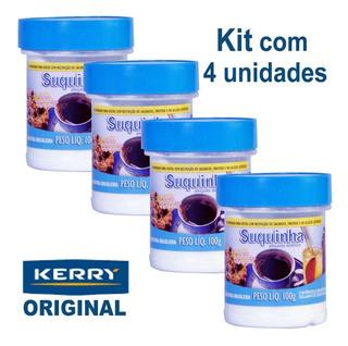 Kit 4 Unidades Suquinha Adoçante Dietético Kerry - 100g