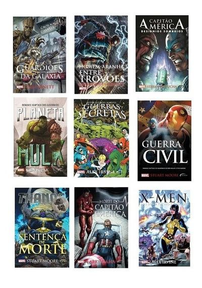 Coleção Romances Marvel - 9 Volumes - Livros - Novos