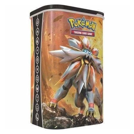 Lata Porta-baralho Do Pokémon Estampas Ilustradas-solgaleo