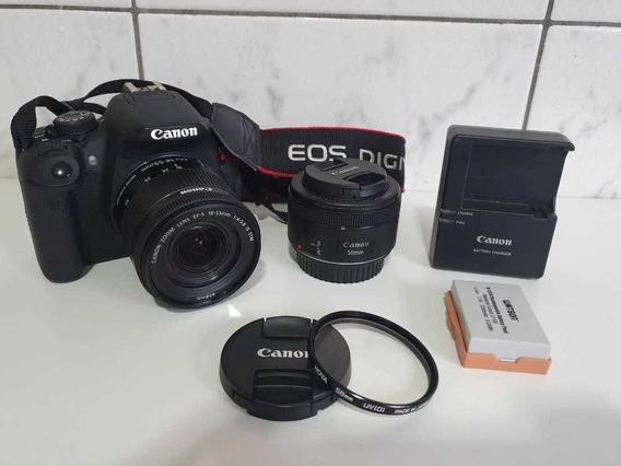 Câmera Canon T5i Kit 18-55mm Is Stm + Lente 50mm 1.8
