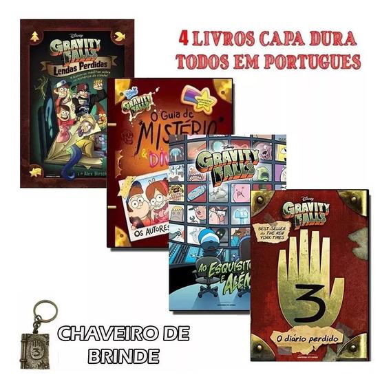Combo 4 Livros Gravity Falls Mistério+ Esquisito E Alem