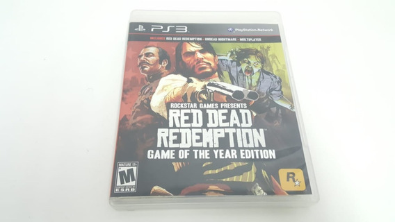 Red Dead Redemption Goty - Ps3 - Original - Mídia Física
