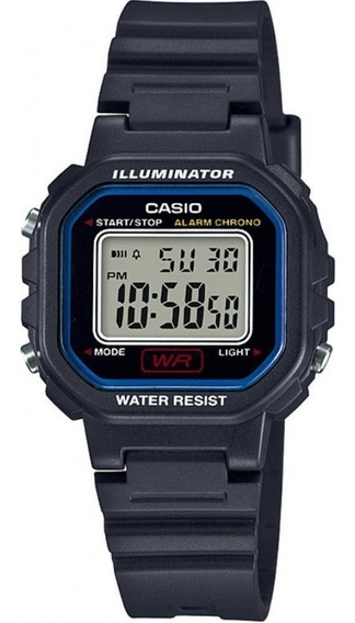 Relógio Casio Feminino Digital Quadrado Pequeno Preto +nf