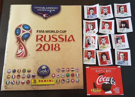 Lote Album Dourado Figurinhas Copa 2018 Suiça + Coca Cola