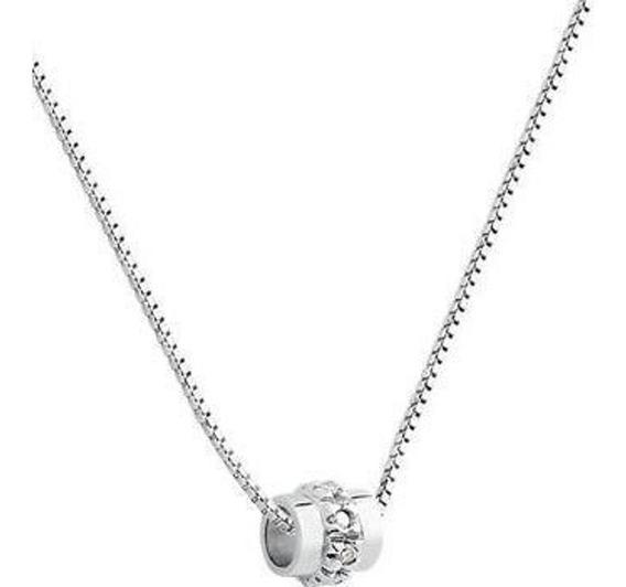 Vivara!!! Colar Ouro Branco 18k 750 Com Diamantes