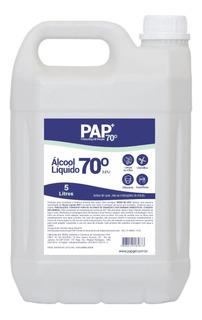 Pap Alcool Líquido 70% Antisséptico- Bombona 5 Litros 5l