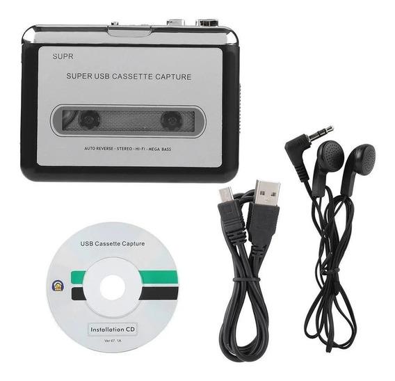 Fita Para Pc Gravador De Cassetes Mp3 Conversor De Cd Captur