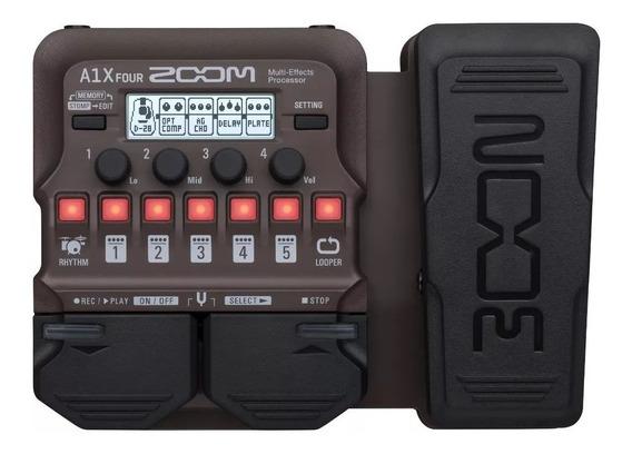 Pedal De Efeitos Para Instrumentos Acústicos Zoom A1x Four