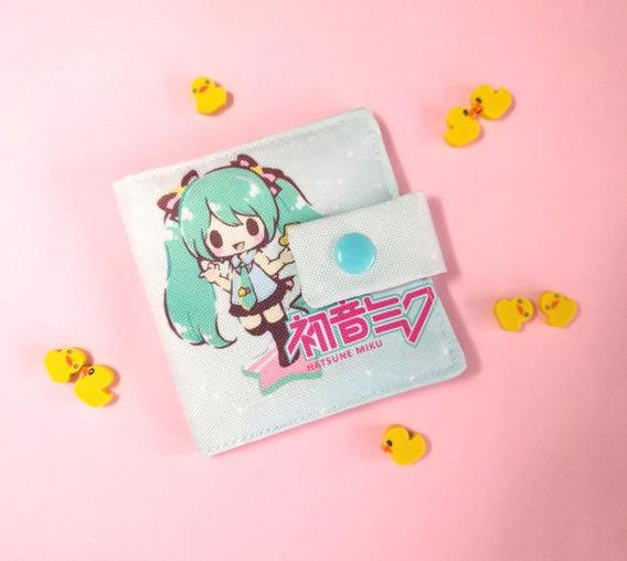 Billetera De Vocaloid Única Tarjetero Miku Hatsune Len Rin