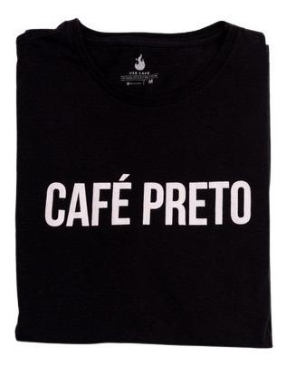 Camiseta Masculina/feminina Café Preto - 100% Algodão